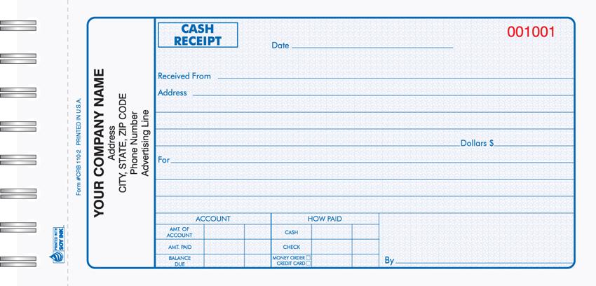 Cash Receipt Books